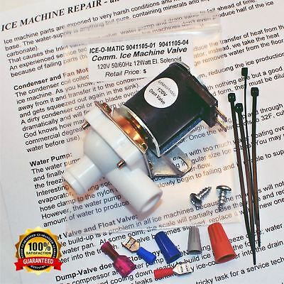 ICE-O-MATIC 9041105-01 / 9041105-04 Solenoid Purge / Dump Valve 120V SHIPS TODAY