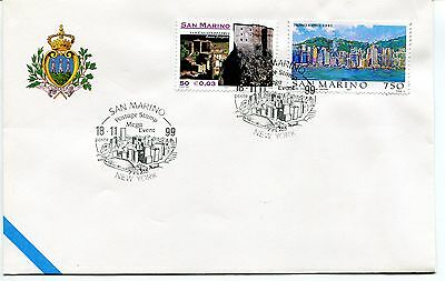 1999-11-18 San Marino New york postage stamp mega event ANNULLO SPECIALE Cover