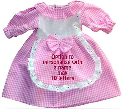 Dolly Dress Clothes fit a 40cm Rag Doll  Personalised with ONE Name Option Pink