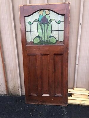 "Cm 77 Antique Stainglass Door 34"" X 75"" X 1.625"" Thick"