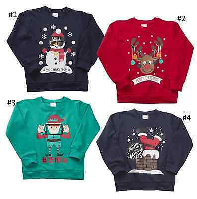 Kids Boys Girls Christmas Xmas Novelty Sweatshirt Jumper 7 - 13 Years