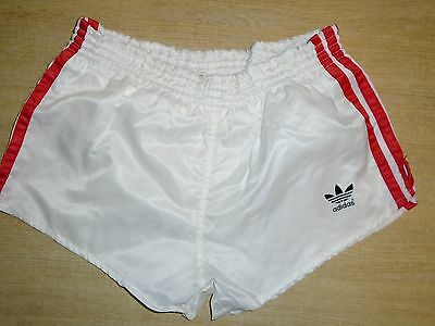 "Vintage Adidas Sprinter Shorts D4 Retro X-Small 28-30"" - White"
