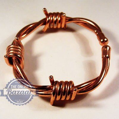 Magnetic Therapy Copper Barbed Wire Bracelet with Gift Box