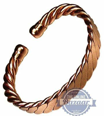 Magnetic Men's Heavy Flattened Copper Bracelet