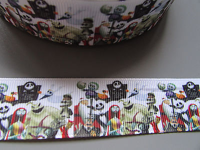 Jack Skeleton Grosgrain Ribbon 2.5cm  x 1 Metre  Sewing//Halloween//Crafts//Cake