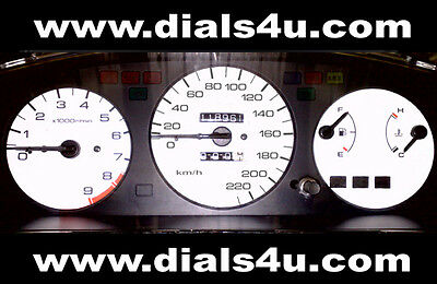 HONDA CIVIC EG MODELS (1992-1995) - VTEC/VTi/LSi - 220km/h WHITE DIAL KIT