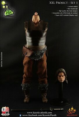 Kaustic Plastik BARBARIAN WARRIOR CLOTHING+HEAD 1/6 scale Action Figure NoBody