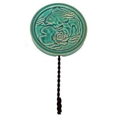 High Relief Majolica Koi Fish Wall Hook Twisted Metal NR • CAD $7.55