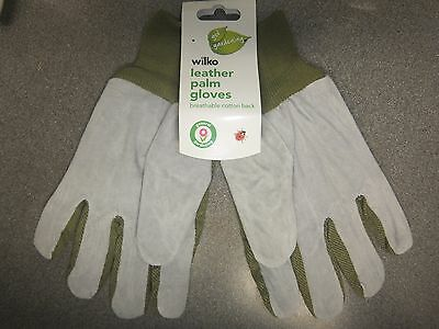 Wilko Heavy Duty Leather Palm Gardening/general Purpose Gloves Large Free P & P