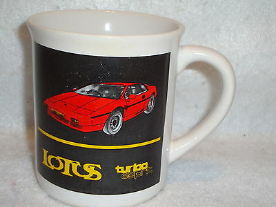 LOTUS TURBO ESPRIT Tea COFFEE MUG Cup Red Sports Car Fourth Gen Late 1980's