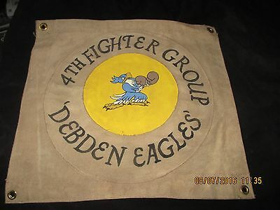 Wwii Usaaf 4 Th Fighter Group Debden Eagles Group Ready Room    Wall Flag