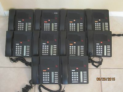 Lot of 10 Nortel Meridian M2006 Black Telephone NT9K05AA03