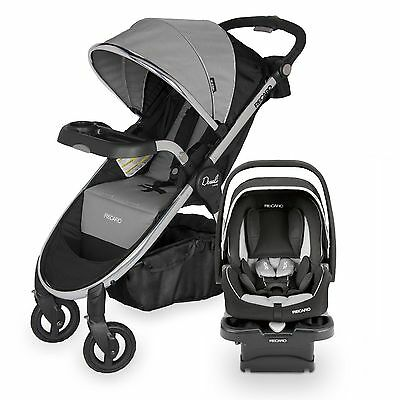 Recaro Denali Luxury Stroller + Performance Coupe Car Seat Granite Travel System