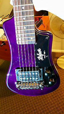 Hofner Shorty Travel Guitar in Purple w/Gig Bag and FREE Shipping