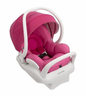 Maxi-Cosi 2016 Mico MAX 30 Infant Car Seat White Collection Pink Berry  IC164DCN