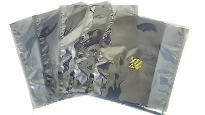 "100 ESD Anti-Static Shielding Bags,Metal In, 8""x12"" inch,Open-Top,3.1 mils"
