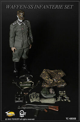 ToysCity 68008 soldier WW2 German infantry CLOTHING 1/6 scale Action Figure doll