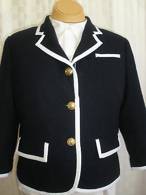 820bbe81abd55 Neiman Marcus Target Thom Browne Navy Wool Blazer Jacket Women s Size M New  Hot