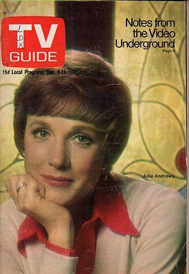 1972 TV Guide December 9 -Julie Andrews; William Castle Vampires;Stunt men;Obeck