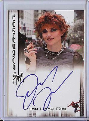 2007 Spider-Man 3 Lucy Lawless as Punk Girl Autograph Card - Spiderman Xena Auto