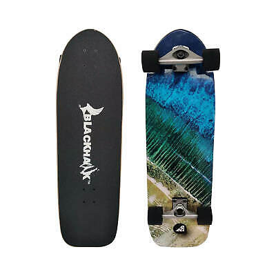 "BLACKHAWK 38.5x10"" 9Ply Maple Deck ABEC-7 Longboard Cruiser Complete Skateboard"