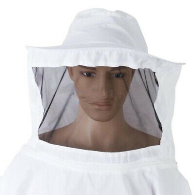 Beekeeping Jacket Bee Keeping Suit Hat Pull Over Smock Protective Safe Equipment