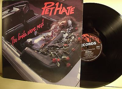 LP- Pet Hate ‎– The Bride Wore Red-UK 1984-MINT
