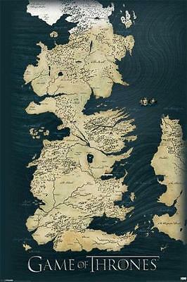 Game of Thrones : Map - Maxi Poster 61cm x 91.5cm new and sealed