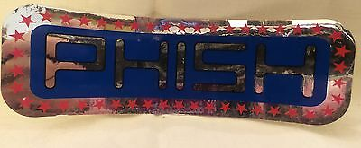 vintage PHISH SILVER BLUE RED sticker decal 2.25 x 7.25