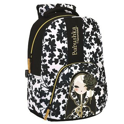 Babushka by Kimmidoll Official PREMIUM Backpack Rucksack Travel School Bag Black