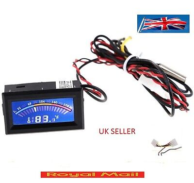 Digital LCD Thermometer Temperature Meter Gauge with probe 5v UK SELLER #T33
