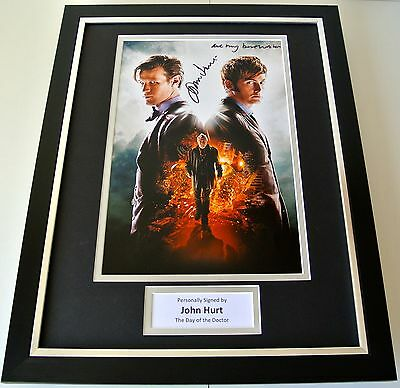 John Hurt SIGNED FRAMED Photo Autograph 16x12 display Doctor Who TV COA
