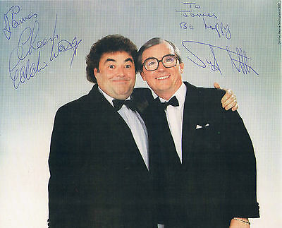 Little & Large Comedy act Sid Little Eddie Large Hand Signed Photograph 10 x 8