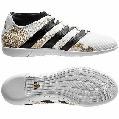 adidas Ace 16.3 Primemesh IN Indoor  2016 Soccer Shoes Brand New White / Gold