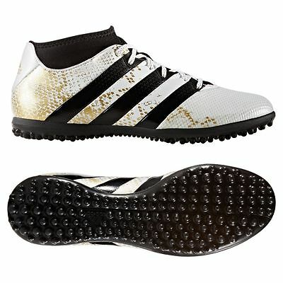 adidas Ace 16.3 Primemesh TF Turf 2016 Soccer Shoes White / Gold Kids - Youth