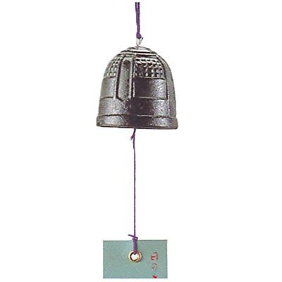 Nambu Tetsuki Cast Iron Green Tanzaku Bell Temple Wind Chimes (Dia 50mm)