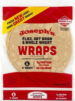Joseph's Reduced Carb/Flax, Oat Bran & Whole Wheat Tortillas, Low Carb, Low Fat