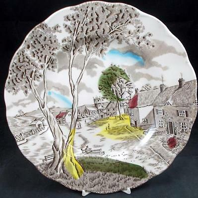 Grindley SUNDAY MORNING BROWN MULTICOLOR Dinner Plate GREAT CONDITION