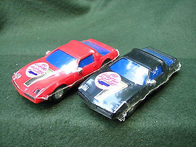 2 Cool Retro Artin Red & Black Firebird Slot Cars w/Lights Sealed in Shrink Wrap
