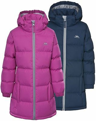 Girls Trespass Puffa Coat Padded Long School Jacket Age 3-12 Free Delivery