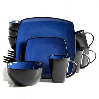 Gibson Home Infinite Glaze 16pc Square Dinnerware Set