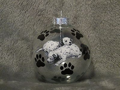"Hand Made Dalmatian 3"" Glass Christmas Ornament/ball"