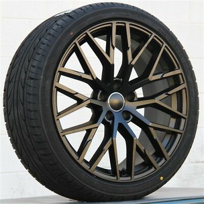 """SET(4) 20"""" 20x9 5x112 WHEELS & TIRES PKG FIT AUDI RS4 A4 A5 S5 S4 A7 A6 S6 A8 RS"""