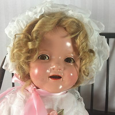"""16"""" Ideal Flirty Eyes Shirley Temple Baby! Composition And Cloth Body.  Sweet!"""