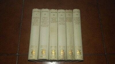 Moliere Oeuvres Completes En Six 6 Volumes Complete Ed. Lutetia Nelson