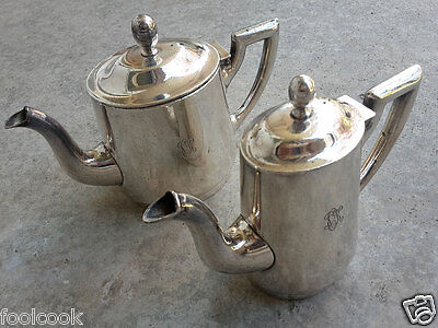 Wellner-Soehne creamer 20cl & coffee pot 40cl from 1914 table silver and & Söhne