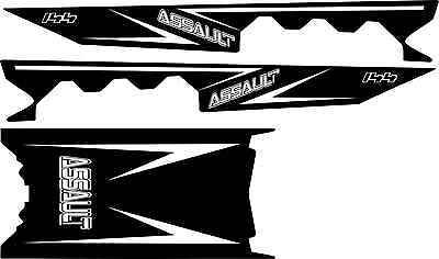 POLARIS RUSH PRO RMK  ASSAULT 120 144 155 163 TOP cut out side TUNNEL DECAL