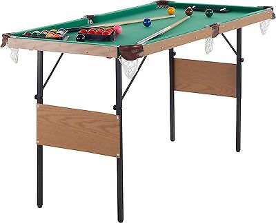 Debut Foldable Snooker and Pool Table with Cues - 4ft 6in -From Argos on ebay