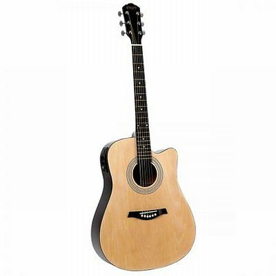 NEW Full Size Professional 5- Band EQ Cutaway Electric Acoustic Guitar - Natural