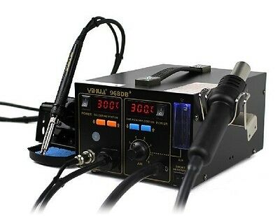 YIHUA 968DB+ 3 in 1 SMD Rework Station Soldering Station With Smoke Absorber